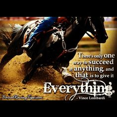 There's only one way to succeed at anything and that is to give it everything. -Vince Lombardi