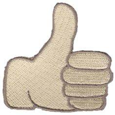 Thumbs Up Emoji Patch