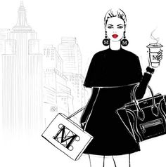 Megan Hess - Saturday in New York and I'm heading to The Met. This is one of the illustrations from my new book NEW YORK Megan Hess Illustration, Illustration Mode, Fashion Design Drawings, Fashion Sketches, Fashion Illustrations, Arte Fashion, Ideias Fashion, Fashion Brand, Women's Fashion