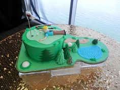 #Golfing #cake from Sweet Treets Bakery! https://www.facebook.com/SweetTreetsBakery