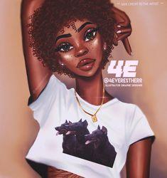 Drawing Art Girl Pictures Ideas For 2019 Black Love Art, Pretty Black Girls, Black Girl Art, Black Is Beautiful, Black Girl Magic, Art Girl, Girl Artist, Black Art Pictures, Girl Pictures