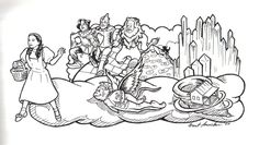 dorothy from the wizard of oz coloring pages | wizard of oz drawing