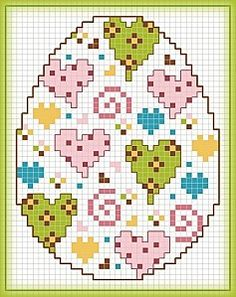 Free cross stitch easter eggs.