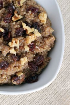 Cinnamon Walnut Quinoa with Raisins | 5DollarDinners.com