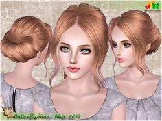 Underneath the Sims 3: Free ButterflySims Hair 085 - Donation!!!