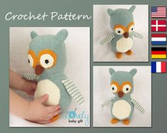 Scrappy OwlsCROCHET PATTERN PDF