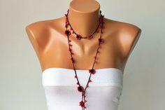 Crochet Strand oya necklace jewelry / crochet by SenasShop