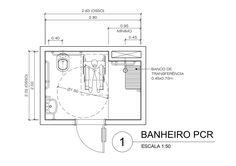 Exemplo de Banheiro residencial para PCR