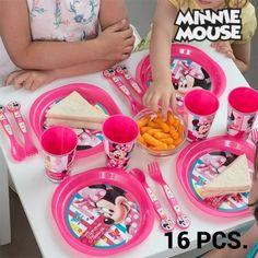 Vaisselle pour Enfants Minnie Mouse (16 pièces)