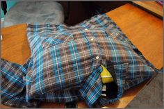 how to make a flannel shirt pillow cover in 5 easy steps, crafts, how to, repurposing upcycling