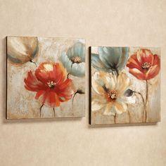 Joyful Garden Floral Canvas Wall Art Set