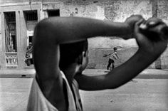 children playing baseball on the street, camaguey, cuba  photo by ernesto bazan