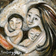 Three Archival 12x12 signed motherhood print from by kmberggren