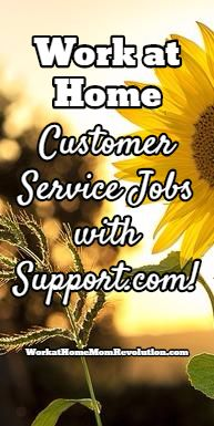 Support.com is seeking work at home customer service agents in the U.S. You must be at least 18 years of age to qualify for these home-based positions. Awesome work from home opportunity! You can make money from home!