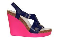 Jil Sander hot pink wedges