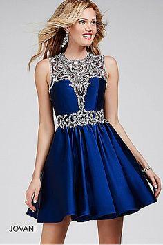 Navy A Line Sleeveless Dress 27385