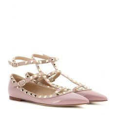 Valentino - Ballerinas Rockstud aus Leder - mytheresa.com