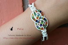 Really cute chinese knot and beads bracelet - free tutorial