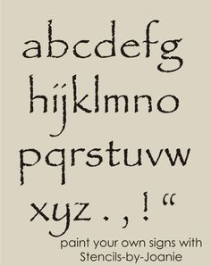 wooden lower case alphabet large letters templates stencil one