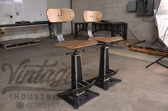 Metropolitan Bar Chairs by Vintage Industrial Furniture