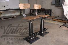 Metropolitan Bar Chairs by Vintage Industrial Furniture