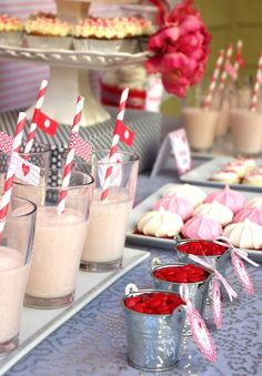 Vintage Valentine's Day Sweets Table