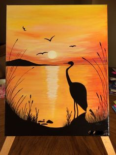 What is Your Painting Style? How do you find your own painting style? What is your painting style? Easy Canvas Painting, Simple Acrylic Paintings, Acrylic Art, Painting & Drawing, Canvas Art, Diy Canvas, Sunset Painting Easy, Drawing Sunset, Painting Wallpaper