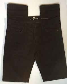 Seven For All Mankind Roxanne Straight Leg Women's Size 26 Black Pant Denim in Clothing, Shoes & Accessories, Women's Clothing, Jeans | eBay
