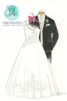Personalized sketch of her wedding day. A gift to take her breath away. Her wedding dress sketched and framed. #weddingdresssketch #dreamlinesweddingdresssketch #dreamlinessketch #anniversarygift #weddinggift #bridegift #bridalshowergift Bride Gifts, Wedding Gifts, Wedding Day, Best Gift For Wife, Gifts For Wife, Wedding Dress Sketches, Wedding Dresses, Bridal Shower Gifts, Maid Of Honor
