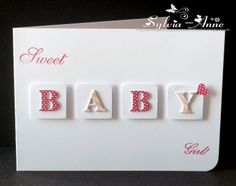 Baby Girl Congratulations Card Paper Crafts 66 Ideas For 2019 Baby Girl Cards, New Baby Cards, Cricut, Congratulations Card, Kids Cards, Cute Cards, Homemade Cards, Making Ideas, Cardmaking
