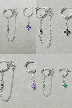 You can wear them together in one ear with separate holes. Sterling Silver Flowers, Sterling Silver Hoops, Sterling Silver Earrings, Birthday Gifts For Best Friend, Best Friend Gifts, Beautiful Lights, Separate, Birthday Cards, Dangles
