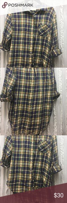Denim and Supply by Ralph Lauren boyfriend shirt Only worn a few times. Super comfy and loose fitting Boyfriend button down top. Excellent condition. Size large 100% cotton Tops Button Down Shirts