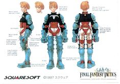 Ramza from Final Fantasy Tactics. I never saw this before but that armor looks very uncomfortable.