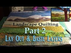 Connect Mountains to Sky   Part 4 Landscape Quilting Tutorial   Fiber Art by Zazu - YouTube