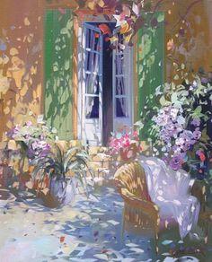 Laurent Parcelier Plus Landscape Art, Landscape Paintings, Cottage Art, Collaborative Art, Light Art, Animal Paintings, Artist Art, Cute Art, Painting & Drawing