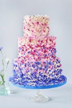 Fantastic Ombre Wedding Cakes ❤ See more: http://www.weddingforward.com/ombre-wedding-cakes/ #weddingforward #bride #bridal #wedding