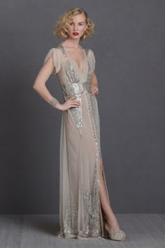 maybe not wedding dress-y enough, but it screams great gatsby :)