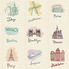 city illustrations by Alli Coate - http://www.flickr.com/photos/allicoate