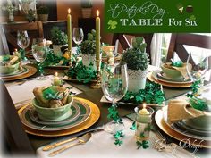St Patrick's Day Table for Six by dining delight, via Flickr  March  2014
