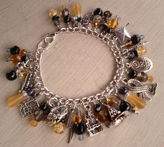 Hufflepuff House Charm Bracelet