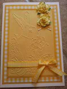 Piece of Cake... Handmade Cards: Easter ~ Embossed Bunny