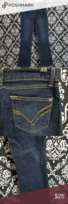 0e69a009 ANCHOR BLUE ] DARK DENIM FLARE JEANS Anchor Blue Jeans Worn just right, no  rips