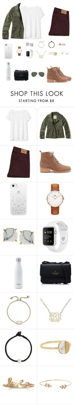 """""""Please read"""" by trujilloxochitl ❤ liked on Polyvore featuring Gap, Hollister Co., Abercrombie & Fitch, Lucky Brand, Casetify, Daniel Wellington, Vince Camuto, Kate Spade, Kendra Scott and Lokai"""