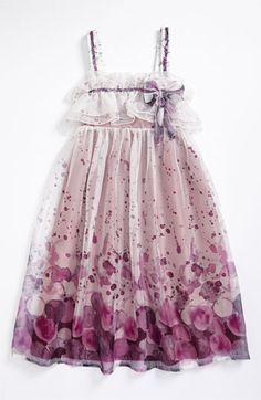 Isobella & Chloe Watercolor Print Dress (Big Girls) | Nordstrom. Love the Fabric