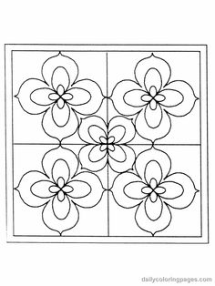 stained glass flower coloring pages