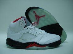 d64b386dd72d Air Jordan Retro 5 2000 White Black Fire Red