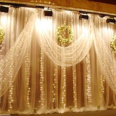 Warm White 3x3M 300 LED Curtain String Fairy Lights Xmas Outdoor Wedding Party in Home, Furniture & DIY, Lighting, Fairy Lights | eBay