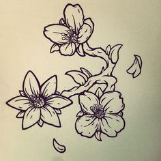 Jasmine Flower Tattoo Design by Michael Penfold, via Behance