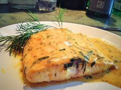 Fish cream gratin with dill - Lecker Kochen - Fish Recipes Meatloaf Recipes, Meat Recipes, Asian Recipes, Snack Recipes, Healthy Recipes, Healthy Food, Shellfish Recipes, Shrimp Recipes, Salmon Recipes