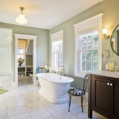 """Benjamin Moore Color...""""aganthus green."""" Green soothes, uplifts, and makes everything around it look good. No wonder it's nature's favorite color."""
